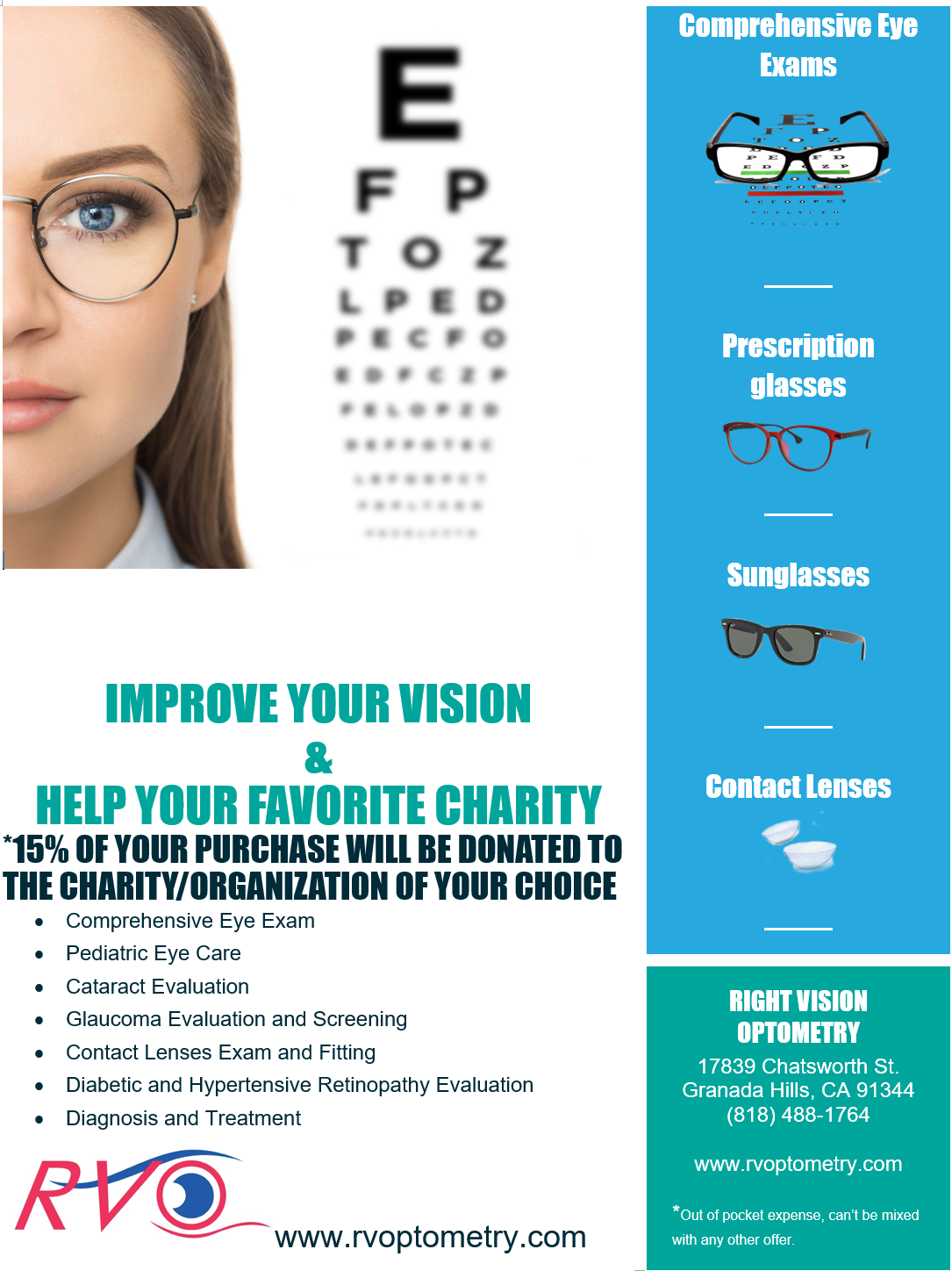 Eye Glasses, sun glasses, eye doctor, optometrist, granada hills